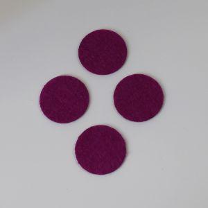 `Фетровые пяточки 25мм, цвет № 30 ярко-фиолетовый (1уп = 20шт)
