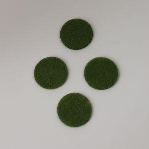 `Фетровые пяточки 25мм, цвет № 47 оливковый (1уп = 20шт)