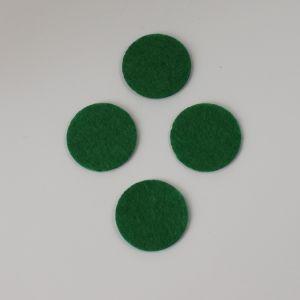 `Фетровые пяточки 25мм, цвет № 48 зеленый (1уп = 20шт)
