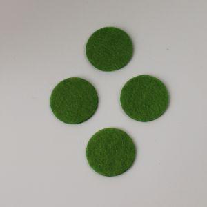 `Фетровые пяточки 25мм, цвет № 49 светло-оливковый (1уп = 20шт)