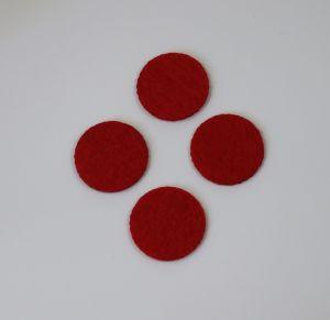 `Фетровые пяточки 30мм, цвет № 06 красный (1уп = 20шт)