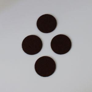 `Фетровые пяточки 30мм, цвет № 35 коричневый (1уп = 20шт)