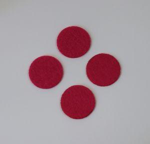 `Фетровые пяточки 35мм, цвет № 03 ярко-розовый (1уп = 20шт)