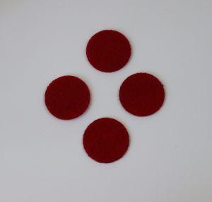 `Фетровые пяточки 35мм, цвет № 07 темно-красный (1уп = 20шт)