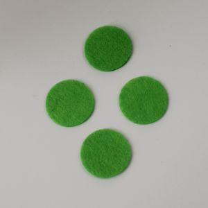 `Фетровые пяточки 35мм, цвет № 50 светло-зеленый (1уп = 20шт)