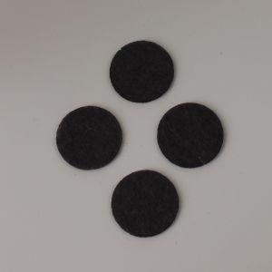 `Фетровые пяточки 35мм, цвет № 55 темно-серый (1уп = 20шт)