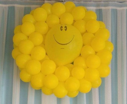 Солнце с маленькими шариками