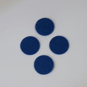 `Фетровые пяточки 40мм, цвет № 22 синий (1уп = 20шт)