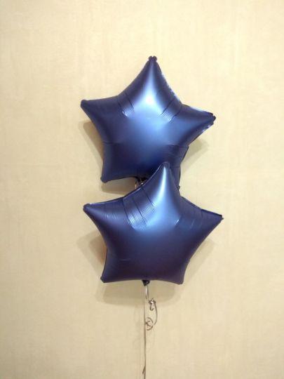 Звезда Лазурь (Сатин) шар фольгированный с гелием
