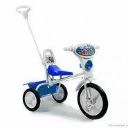 """Детский велосипед """"Малыш"""" 09/03П, спинка, упр. ручка, кузовок  голубой"""