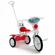 """Детский велосипед """"Малыш"""" 09/03П, спинка, упр. ручка, кузовок розовый"""