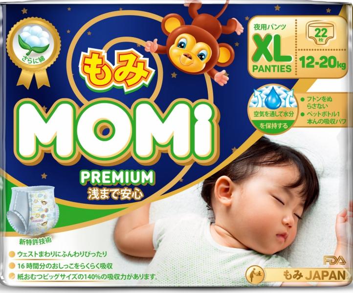 MOMI Premium Night подгузники-трусики XL ( 12-20 кг), 22 шт.