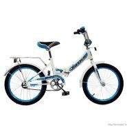 """Велосипед Larsen Junior 18"""" (16,18"""") Белый/ голубой"""