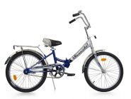 "Велосипед Larsen Tourist (16, 24"") Серый / синий"