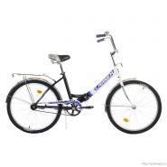 """Велосипед Larsen Tourist 1.0 24"""" (17,24"""") Черный/белый (cкладной)"""