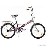 """Велосипед Larsen Way 20"""" (17,20"""") Черный/серый (cкладной)"""