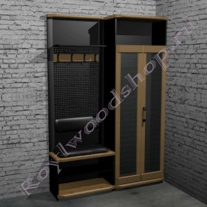 """Мебель для прихожей  """"Честер- Лофт"""" Модули 1- 2"""