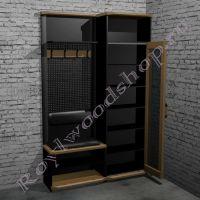 """Мебель для прихожей  """"Честер- Лофт"""" Модули 1- 2-2"""