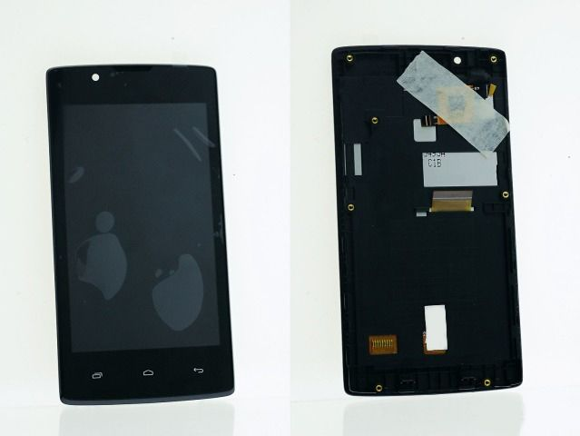 LCD (Дисплей) Fly FS401 Stratus 1 (в сборе с тачскрином) (в раме) (black) Оригинал