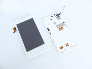 LCD (Дисплей) Fly FS401 Stratus 1 (в сборе с тачскрином) (в раме) (white) Оригинал