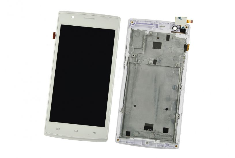 LCD (Дисплей) Fly FS501 Nimbus 3 (в сборе с тачскрином) (в раме) (white) Оригинал