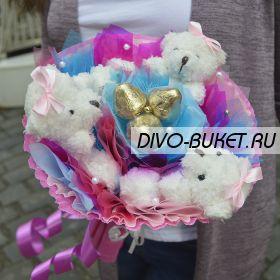 """Букет из игрушек №318-3К """"Розовые сны"""""""