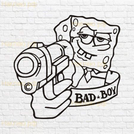 Spongebob bad boy в векторе