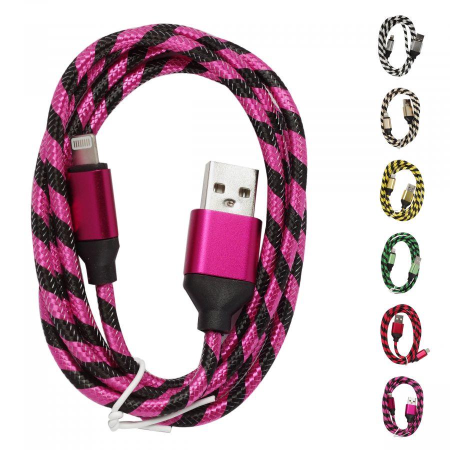 Шнур Oleeps iphone 5 - USB POL-903 (фиолетовый)