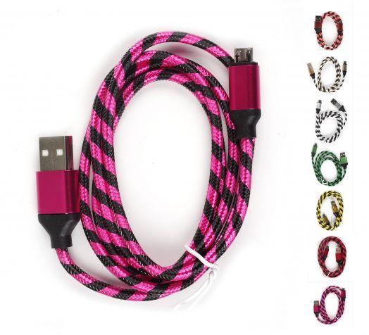 Шнур Oleeps Micro - USB POL-803 (фиолетовый)