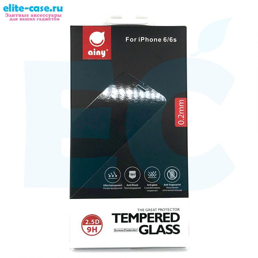 Защитное стекло Ainy GLASS для Apple iPhone 6/6S 0.2mm