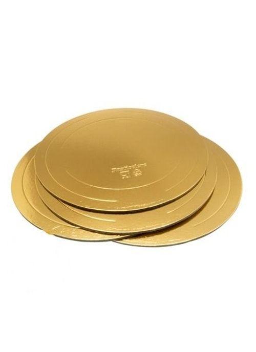 Подложка круглая золото