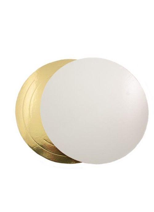 Подложка круглая золото/белая