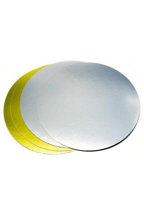 Подложка круглая золото/серебро