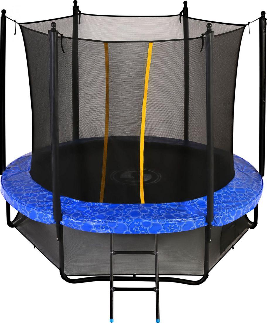 Батут с внутренней защитной сеткой - Swollen Classic 8FT (2,43м), цвет синий