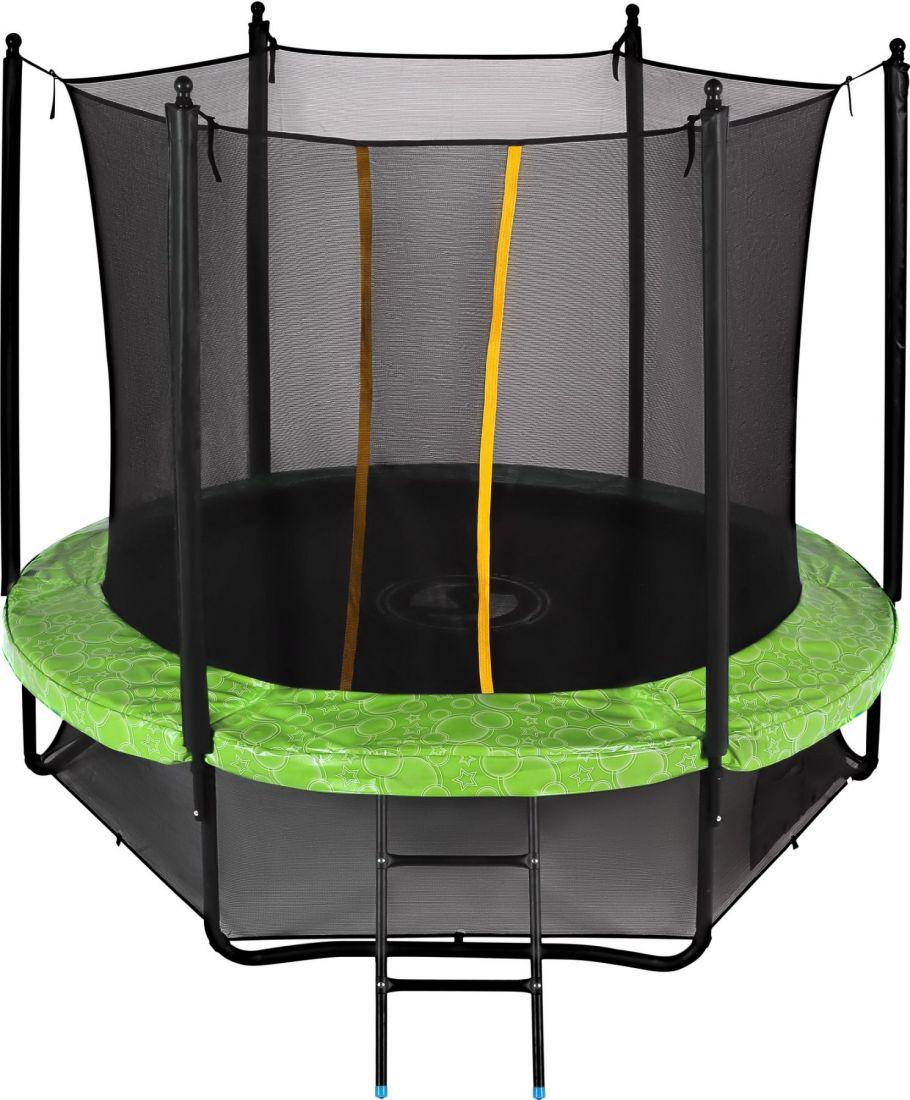 Батут с внутренней защитной сеткой - Swollen Classic 8FT (2,43м), цвет зеленый