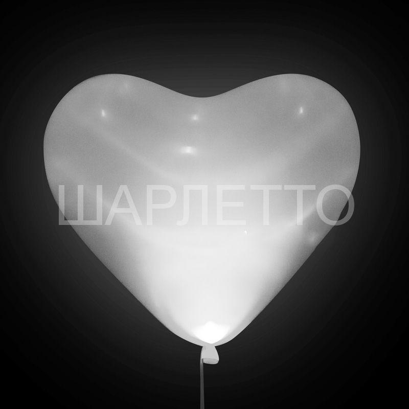 Светящиеся белое сердце SMD