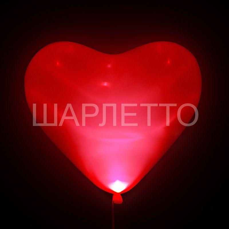 Светящиеся красное сердце SMD