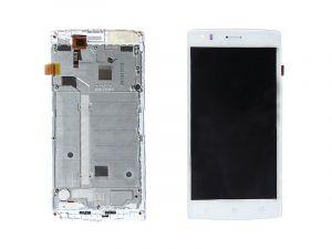 LCD (Дисплей) Fly FS502 Cirrus 1 (в сборе с тачскрином) (в раме) (white) Оригинал