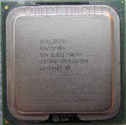 Процессор Intel Pentium 4 524 - lga775, 90 нм, 1 ядро/1 поток, 3.06 GHz, 84W, 533 MHz