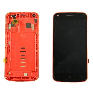LCD (Дисплей) Fly FS456 Nimbus 14 (в сборе с тачскрином) (в раме) (red) Оригинал