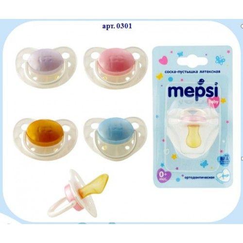 Mepsi Соска-пустышка латексная ортодонтическая от 0 месяцев