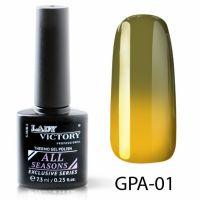 Термогель-лак Lady Victory GPA - 01, 7.3 мл
