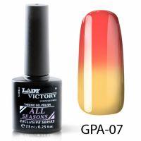 Термогель-лак Lady Victory GPA - 07, 7.3 мл