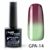 Термогель-лак Lady Victory GPA - 14, 7.3 мл
