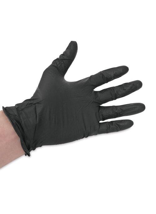 Перчатки Черные винил