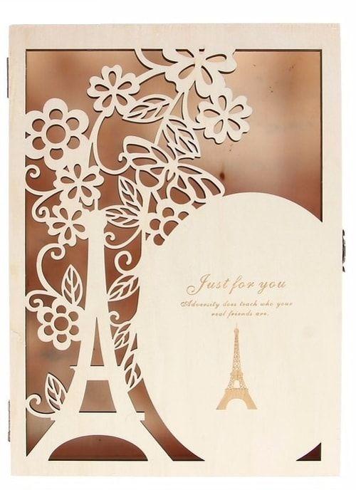 """Шкатулка дерево """"Париж"""" 19х26,5х4 см"""