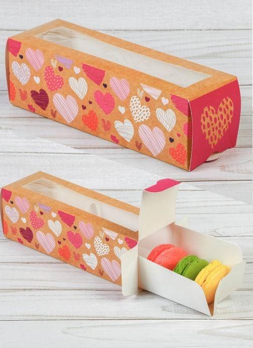 """Коробочка для макарун """"Моя тебе любовь"""", 18 х 5,5 х 5,5 см"""