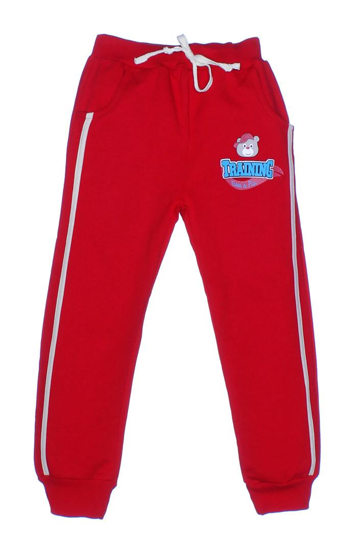 064c5f07 Красные спортивные штаны из хлопкового трикотажа купить для мальчика ...