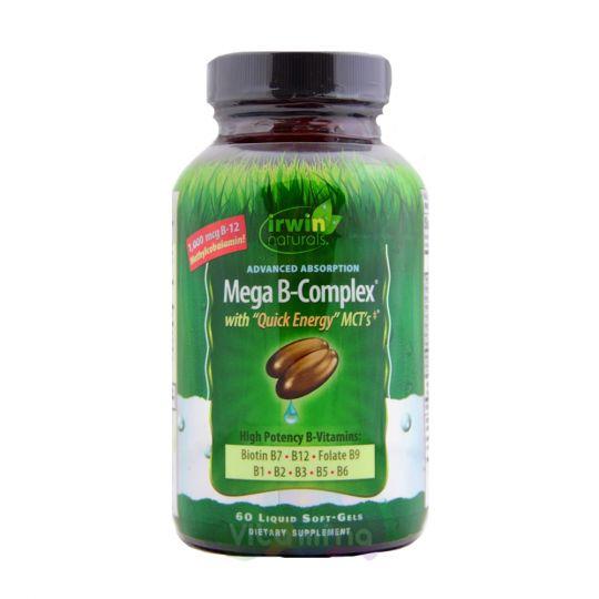Irwin Naturals Mega B-Complex Комплекс витаминов группы В, 60 капсул