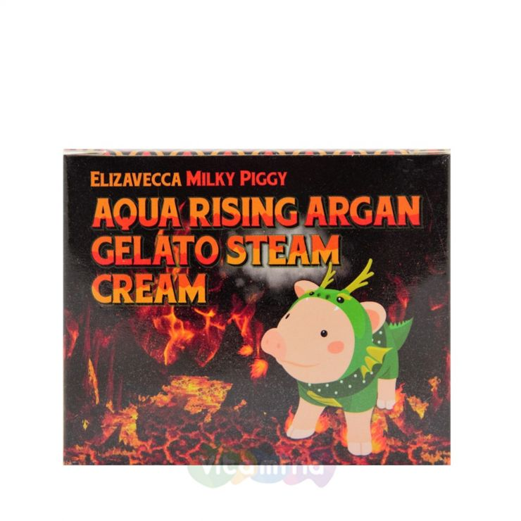 Elizavecca Крем паровой увлажняющий Milky Piggy Aqua Rising Argan Gelato Steam Cream